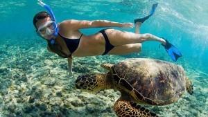 Snorkeling in Bali Beach